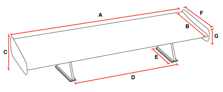 Wing Measurement Specifications Diagram